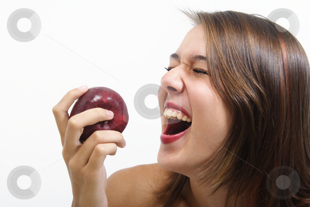 Healthy Laughter stock photo, Healthy eating makes for a happy mind and healthy body. by Brenda Carson
