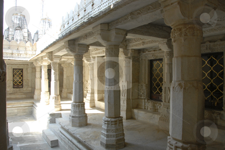 Ranakpur Jain Temple stock photo,  by Didier Tais