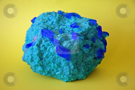 Blue Stone stock photo, A striking example of the mineral azzurite. by Adam Goss