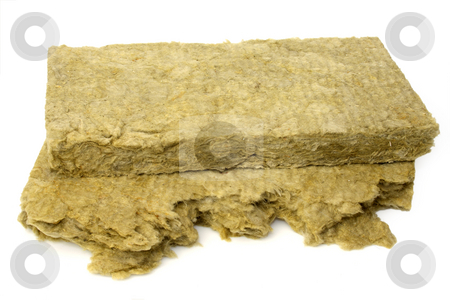 Thermal insulation stock photo, Thermal insulation material on bright background by Birgit Reitz-Hofmann