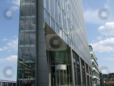 High rise building (modern) stock photo, Modern architecture with glass windows by Birgit Reitz-Hofmann