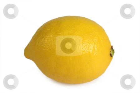 Fresh lemon stock photo, Lemon isolated on white background by Birgit Reitz-Hofmann