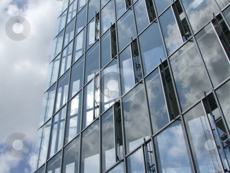 Glass Windows Office Building stock photo, Modern architecture with glass windows by Birgit Reitz-Hofmann
