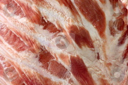 Spare ribs stock photo, Raw spare ribs in details as background by Birgit Reitz-Hofmann