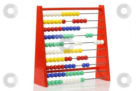 Abacus stock photo, Childrens abacus on bright background by Birgit Reitz-Hofmann