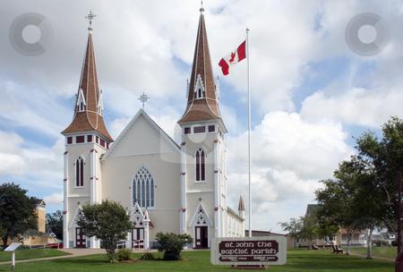 St. John the Baptist Church stock photo, St. John the Baptist Church, Mistouche, Prince Edward Island, Canada by Thomas Marchessault