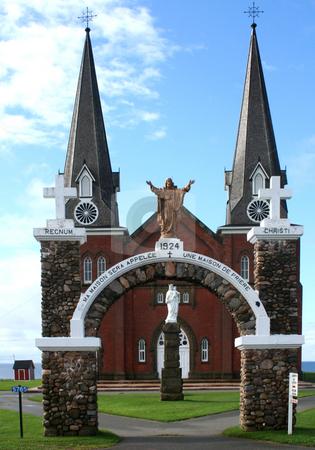 Mont Carmel Roman Catholic Church stock photo, Mont Carmel Roman Catholic Church, Mont Carmel, PEI by Thomas Marchessault