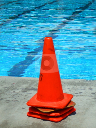 Safety Cones stock photo,  by Michael Felix
