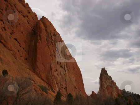 Garden Of The Gods stock photo, Color image of Garden Of The Gods park in Colorado. by Michael Rice