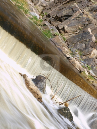 Water Fall stock photo, Color image of a water fall. by Michael Rice