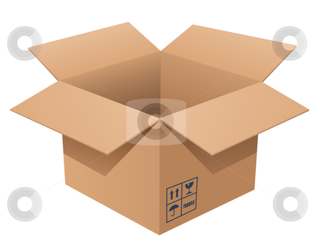 Cardboard Box stock vector clipart, Vector illustration of a cardboard box by Inge Schepers