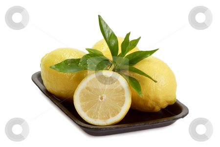 Lemons stock photo, Fresh lemons on white background by Birgit Reitz-Hofmann