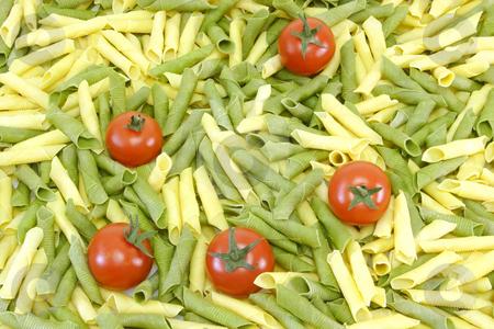 Noodles_12 stock photo, Raw pasta on bright background. Shot in Studio. by Birgit Reitz-Hofmann