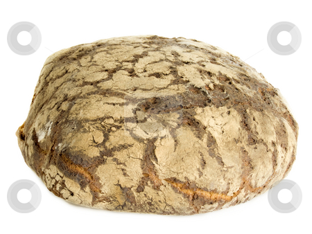 Loaf of bread stock photo, Loaf of bread isolated on white background by Birgit Reitz-Hofmann