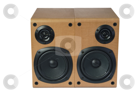 Surround technology stock photo, Speaker box isolated on white background by Birgit Reitz-Hofmann