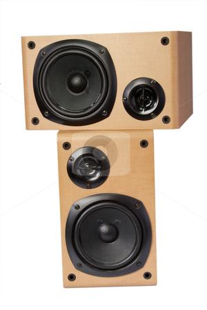 Speaker boxes stock photo, Speaker box isolated on white background by Birgit Reitz-Hofmann