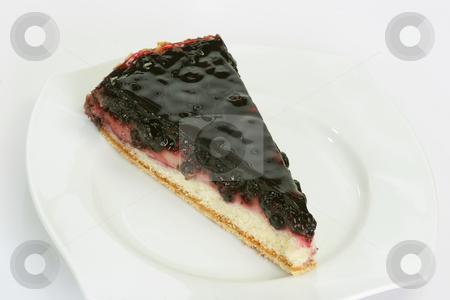 Huckleberry pie stock photo, Slice of huckleberry pie on bright background by Birgit Reitz-Hofmann