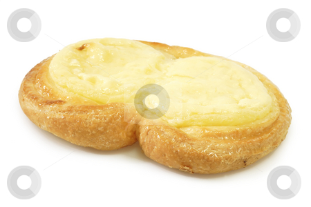 Custard cake stock photo, Cakes custard tart on bright background by Birgit Reitz-Hofmann