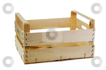 Crate stock photo, Emty crate isolated on white background by Birgit Reitz-Hofmann