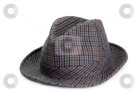 Attractive hat stock photo, Mans hat isolated on white background by Birgit Reitz-Hofmann