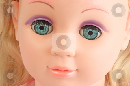 Dolls eyes stock photo, Detail from a doll face. Shot in Studio by Birgit Reitz-Hofmann