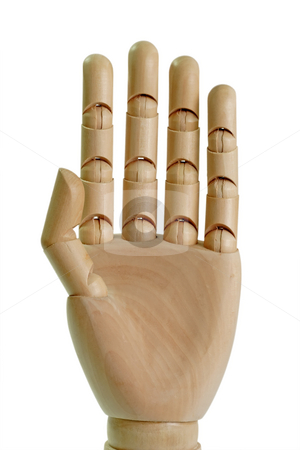 Model hand stock photo, Dummie hand isolated on white background by Birgit Reitz-Hofmann