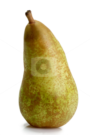 Sweet pear stock photo, One pear on bright background. Shot in sutdio by Birgit Reitz-Hofmann