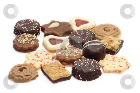 Cookies stock photo, Colorful cookies on bright background. Shot in studio. by Birgit Reitz-Hofmann