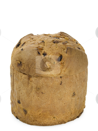 Panettone stock photo, Panettone Isolated on white background by Birgit Reitz-Hofmann