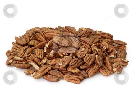 Pecan nuts stock photo, Pecan nuts on bright background by Birgit Reitz-Hofmann