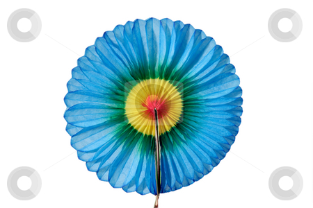 Paper rosette stock photo, Colorful paper rosette isolated on white background by Birgit Reitz-Hofmann