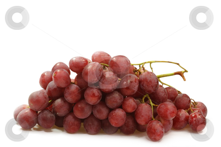 Grapes stock photo, Red grapes on bright background by Birgit Reitz-Hofmann