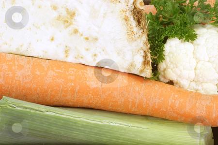 Soup vegetables stock photo, Freshly vegetables for preparing a healthy soup as background by Birgit Reitz-Hofmann