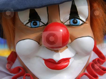 Colorful clown stock photo, Portrait from a colorful clown doll as backround by Birgit Reitz-Hofmann