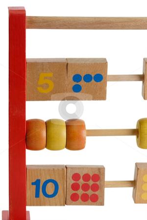 Abacus_1 stock photo, Wooden abacus isdolated on white background by Birgit Reitz-Hofmann