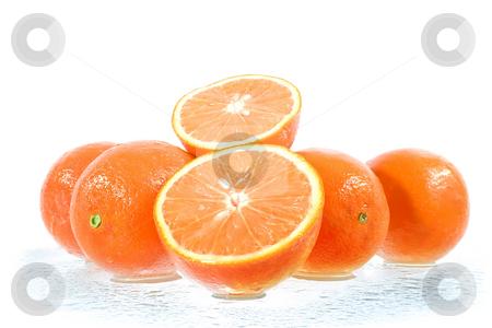 Oranges stock photo, Studio shot of oranges over white background by iodrakon