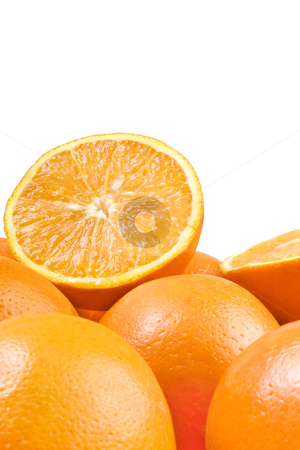 Oranges stock photo, Studio shot of oranges over white background by iodrakon