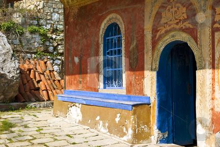 Church stock photo, Preobrajenski Monastery near Veliko Turnovo Bulgaria (built in 14th century - collapsed through the ottoman - rebuilt in 19th century) by Desislava Dimitrova