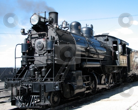 All Aboard stock photo, All Aboard is heard as the steam locomotive leaves East Ely enroute to Ruth, in White Pine County, Nevada. by John Dickinson