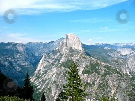 Yosemite Valley stock photo, Yosemite Valley and Half-Dome stand tall in the spring sunshine at the National Park in California. by John Dickinson