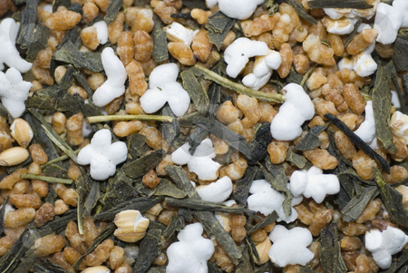 Green tea with air corn stock photo, This is green tea with air corn by Larisa Chernysheva