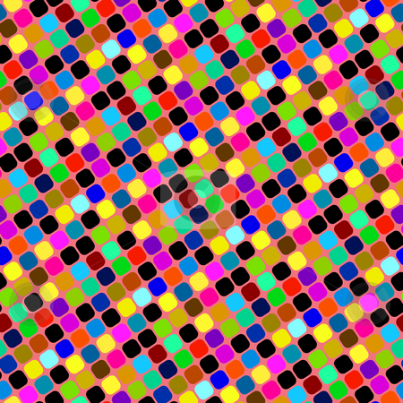 Bright blocks pattern stock photo, Seamless texture of diagonal vibrant squares on pink background by Wino Evertz
