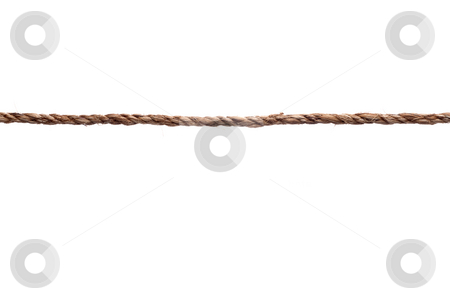 A closeup of a tightly stretched length of rope stock photo, A closeup of a tightly stretched length of rope by Vince Clements