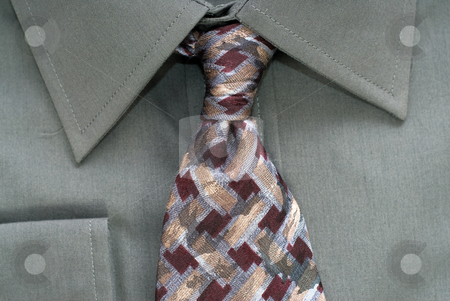 Closeup Shirt and Tie stock photo, Closeup view of a shirt and neck tie by Richard Nelson