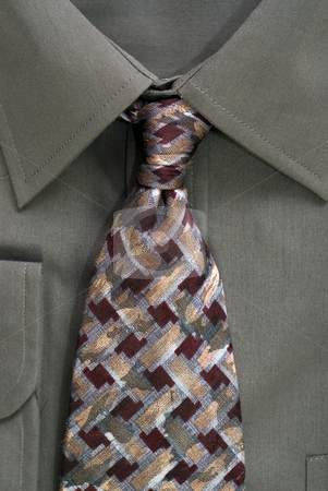 Business Apparel stock photo, Closeup view of some business apparel, or if you prefer, a shirt and tie by Richard Nelson