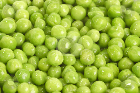 Green peas stock photo, Green peas in detail as background by Birgit Reitz-Hofmann