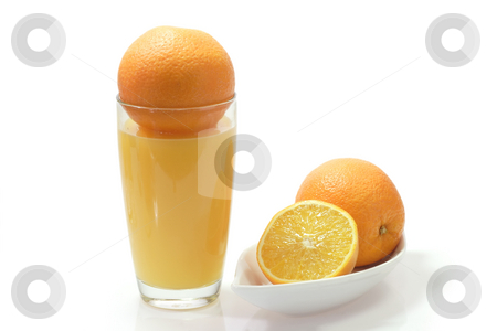Orange juice_1 stock photo, Orange juice on bright background by Birgit Reitz-Hofmann