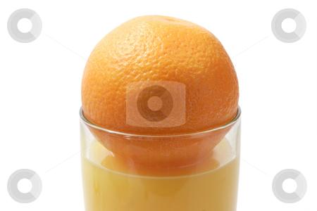 Orange juice_3 stock photo, Orange juice on bright background by Birgit Reitz-Hofmann