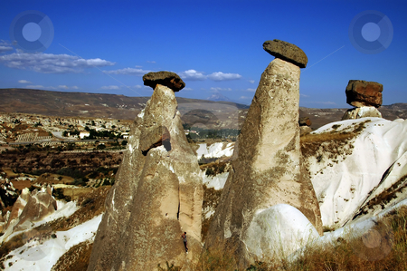 Cappadocia stock photo, The speciel stone formation of cappadocia turkey by Kobby Dagan