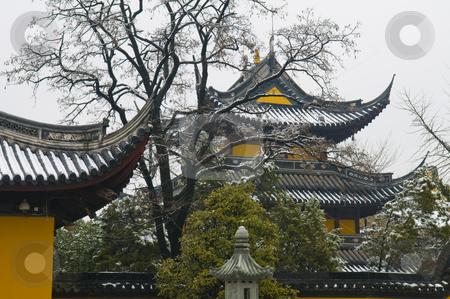 Chinese buddhist shrine  stock photo, Chinese buddhist shrine in the city of Shanghai China by Kobby Dagan